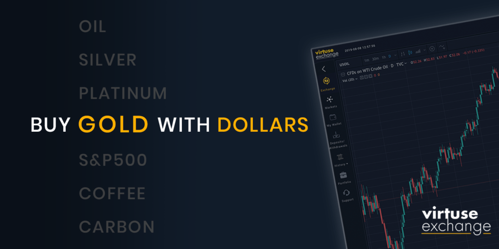 Buy Gold with USD on Virtuse
