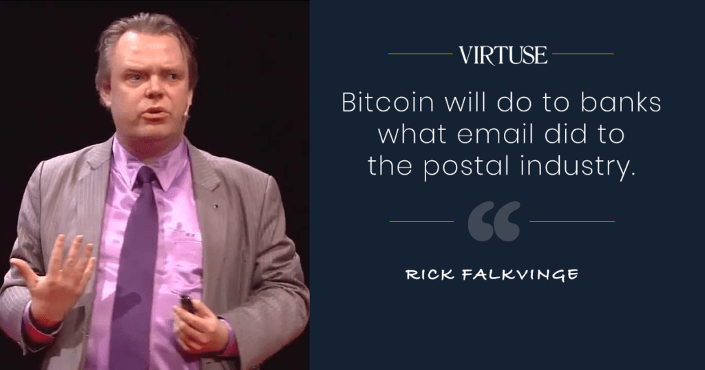 Rick Falkvinge bitcoin quote
