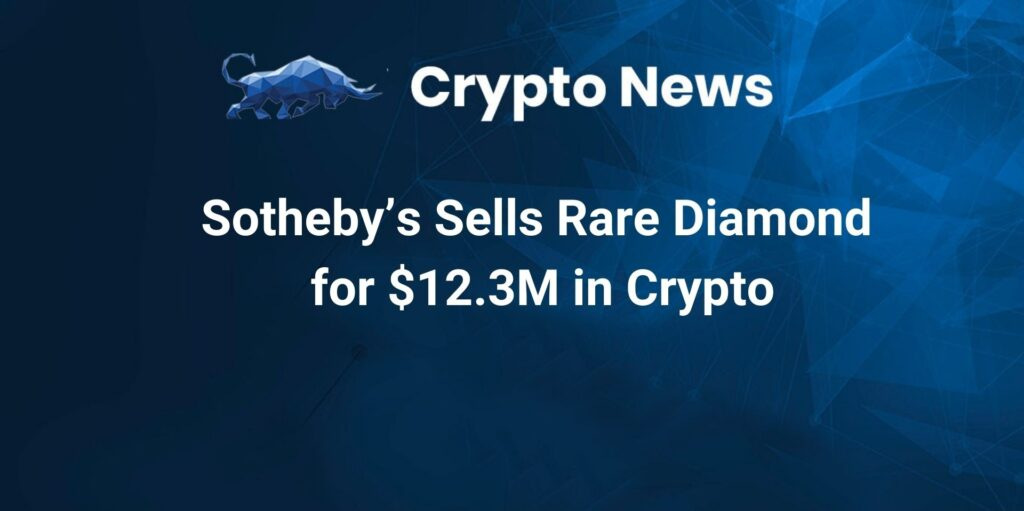 Sotheby's Sells Rare Diamond for $12.3M in Crypto