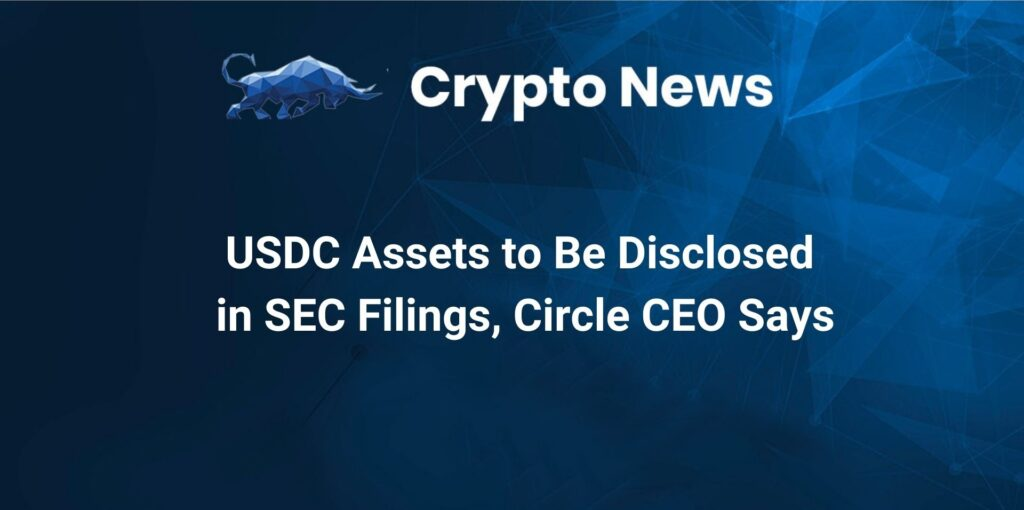 USDC Assets to Be Disclosed in SEC Filings, Circle CEO Says